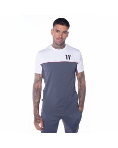 11 Degrees - Piping T-Shirt - Anthracite/White/Red