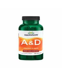 سوانسون  - فيتامين أ 1.500 مكغ + فيتامين د