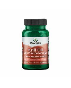 Swanson Krill Oil with Pure Coconut Oil - Featuring RIMFROST