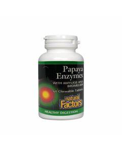 Natural Factors - Papaya Enzymes with Amylase & Bromelain
