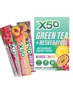 X50 - Green Tea + Resveratrol Antioxidant Energy Drink - Assorted