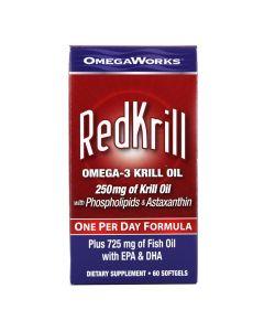 OmegaWorks - RedKrill Omega-3 Krill Oil