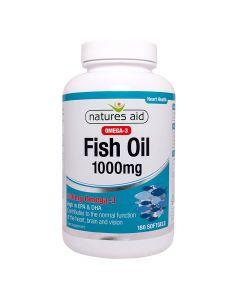 Natures Aid - Fish Oil Omega-3 1000 mg