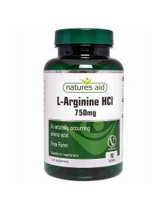 Natures Aid - L-Arginine HCI 750mg