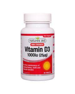 Natures Aid - Vitamin D3 1000iu