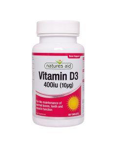 Natures Aid - Vitamin D3 400iu