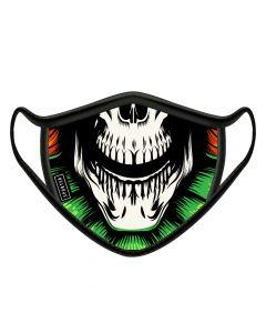 Sporter - Face Mask Male Skull - Black/Green/Red