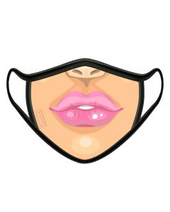 Sporter - Face Mask Female Lips - Pink