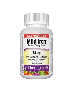 Webber Naturals - Mild Iron 28 mg Ferrous Bisglycinate