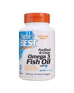 دكتور بيست - زيت السمك أوميغا 3 المنقى والنقي