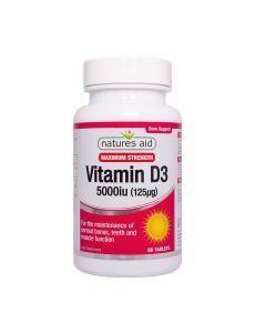Natures Aid - Vitamin D3 5000iu High Strength