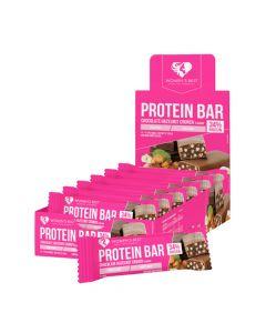 وومنز بيست بروتين بار - نكهة كرنش الشوكولاتة بالبندق - صندوق 12 بار