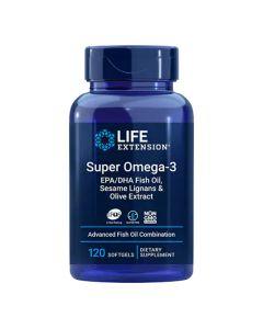 لايف إكستينشن - سوبر أوميغا -3 EPA/DHA زيت السمك, قشور السمسم وخلاصة الزيتون