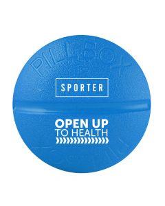 Sporter - Round Pill Box - 4 Parts - Blue