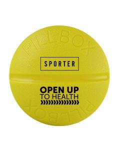 Sporter - Round Pill Box - 4 Parts - Yellow