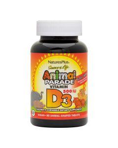 Natures Plus - Animal Parade Vitamin D3 500 IU For Children