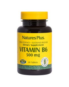 Natures Plus -Vitamin B6 500 mg Sustained Release