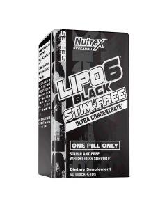 Nutrex Research - Lipo6 Black Stim-Free Ultra Concentrate