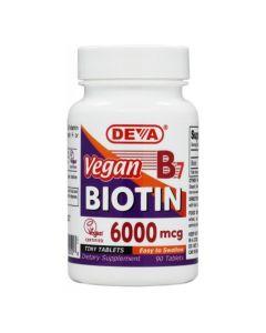Deva Nutrition - Vegan Biotin 6000 mcg