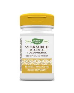 Natures Way - Vitamin E - D-Alpha Tocopherol 400IU