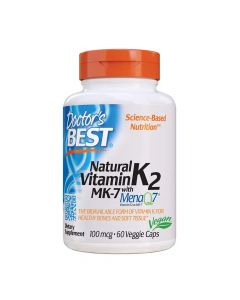 Doctors Best - Natural Vitamin K2 Mk7 With Menaq7 100mcg
