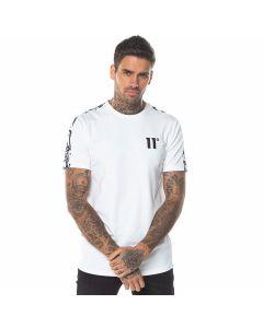 11 Degrees - Cut Off Panel T-Shirt - White