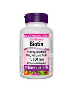 Webber Naturals - Biotin10 000 mcgExtra Strength