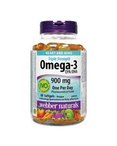 Webber Naturals - Triple Strength Omega-3900 mg EPA/DHA