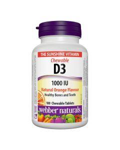 Webber Naturals - Vitamin D3 1000 IU Chewable