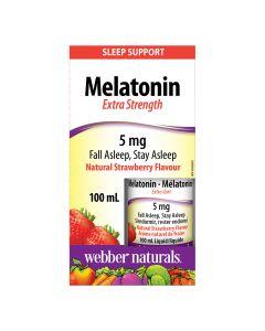 Webber Naturals - Melatonin 5 mg Extra Strength Liquid