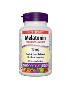 Webber Naturals - Melatonin Maximum Strength10 mgDual Action Release