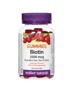 Webber Naturals - Biotin Gummies 2500 mcg