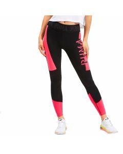 Puma DryCell - Logo 7/8 Tight - Puma Black-Pink Alert