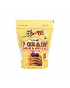 Bob's Red Mill - Organic 7 Grain Pancake & Waffle Whole Grain Mix Powder - 24 oz
