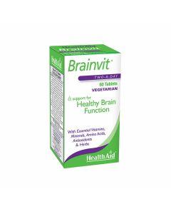HealthAid BrainVit (Vitamins,Minerals, Amino Acids, Antioxidants and herbs)