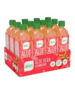 Aloes Aloevera Drink - Strawberry Box Of 12