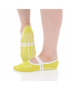 Great Soles - Classic Ballet Grip Sock - Lime/White