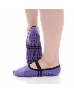 Great Soles - Classic Ballet Grip Sock - Violet/Black