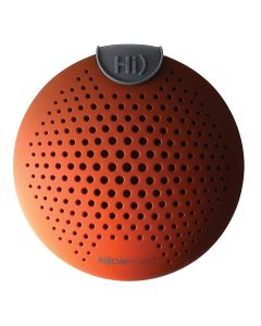 Boompods - SoundClip - Waterproof Bluetooth Speaker - IPX6 Amazon Alexa Integrated - Orange