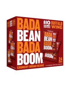 Bada Bean Bada Boom - Buffalo Wing Crunchy Broad Beans - 24 Bags