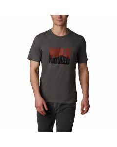 Columbia - Teihen Trails SS Graphic Tee - Charcoal Heather/Wild Natured