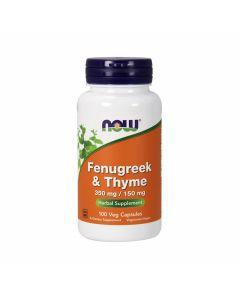 Now Fenugreek & Thyme 350 mg / 150 mg