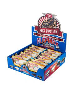 Max Protein - Flapmax with Crunchies Whey Protein Concentrate Protein Bar - White Choc Box Of 24