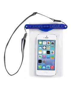 GoBag - Dolphin Self Sealing Dry Bag for All Smartphones Waterproof to 30m Blue