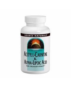 Source Naturals Acetyl L-Carnitine & Alpha-Lipoic Acid 650mg