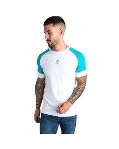 Gym King - Ali T-Shirt - White / Aqua / Grey