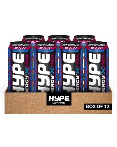 Hype Drinks Energy Performance Zero Sugar With Caffeine - Coco Berry - Box Of 12
