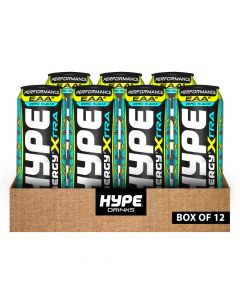 Hype Drinks Energy Performance Zero Sugar With Caffeine - Pina Colada - Box Of 12
