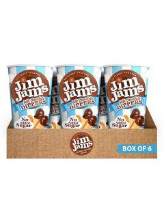 جيم جامز - ديبرز شوكولاتة بالحليب بدون سكر مضاف - صندوق 6 قطع
