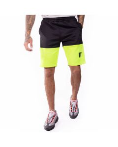 11 Degrees - Neo Triple Panel Poly Shorts - Black/Lime/White